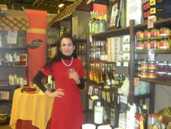 Maria at the Fine Food Fair